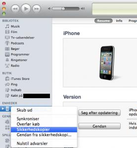 Backup af Device!